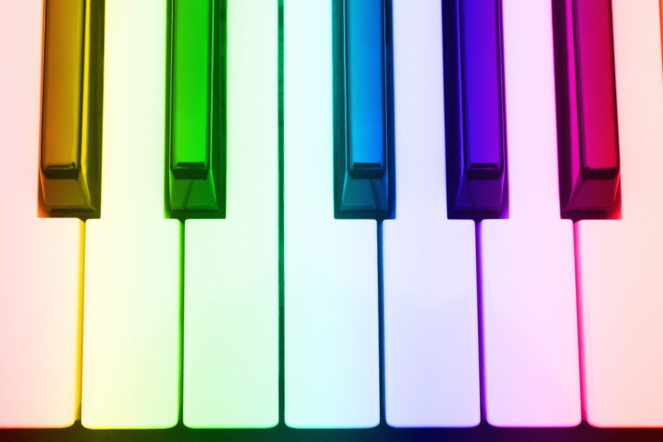 700-553915 © Boden/Ledingham Close-Up of Piano Keys