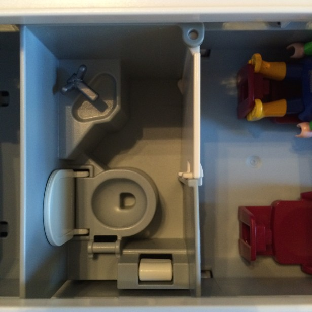 Playmobil airline lavatory