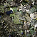 ** HOLD FOR STORY BY RICK CALLAHAN ** Circuit boards fill a bin at a recycling center in Indianapolis, Thursday, Aug. 27, 2009 at Workforce Inc., a nonprofit electronics recycler that contracts with the city of Indianapolis to recycle electronic waste the city collects at hazardous household waste drop-off sites. Frustrated by inaction in Congress, a growing number of states are trying to recycle some of the rising tide of junked TVs, computers and other electronics that have become one of the nation's fastest-growing waste streams. Nineteen states have passed laws setting goals for recycling old electronics, most of which now end up in landfills and contain toxic materials that can threaten groundwater. Thirteen other states are considering laws. (AP Photo/Michael Conroy)